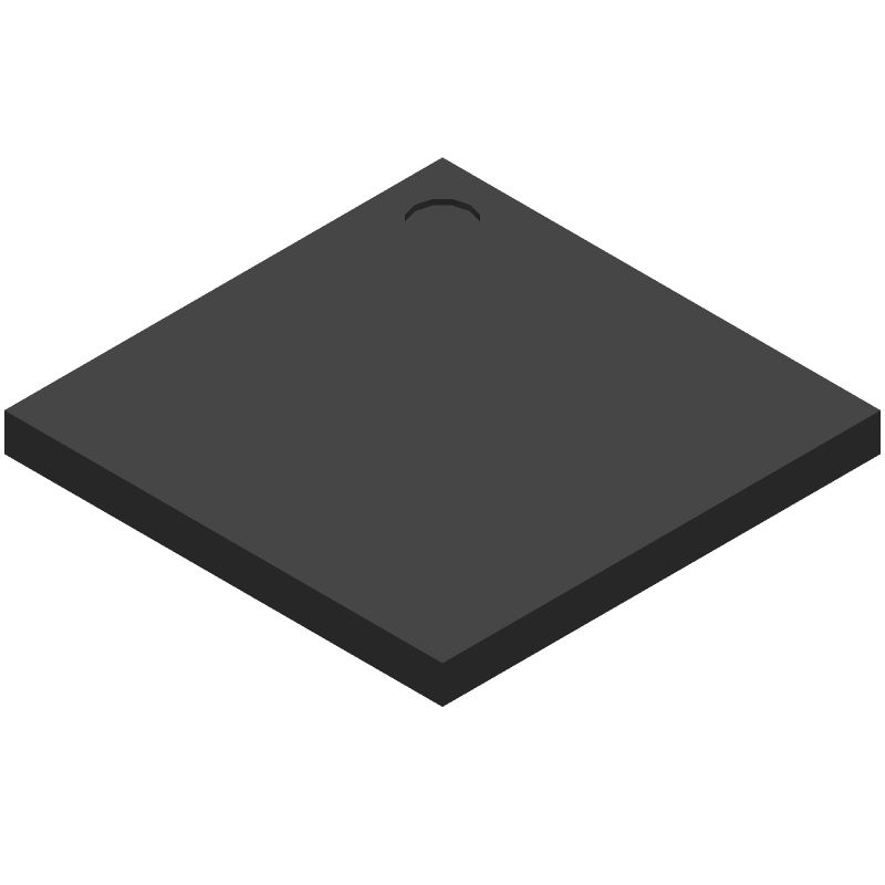 Microchip PIC32MZ1025DAA169-I/HF (BGA) 3D model isometric projection.