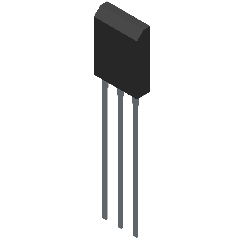 ON Semiconductor FGH60N60SMD (Transistor Outline, Vertical) 3D model isometric projection.