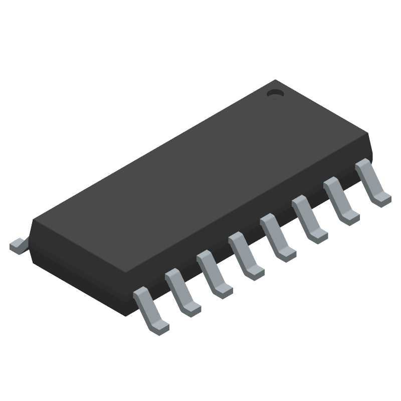 Texas Instruments CD4044BM (Small Outline Packages) 3D model isometric projection.