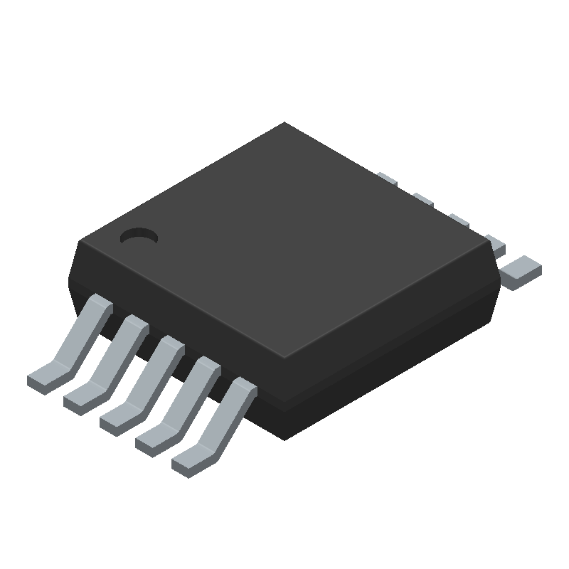 Microchip MCP73833-FCI/UN (Small Outline Packages) 3D model isometric projection.
