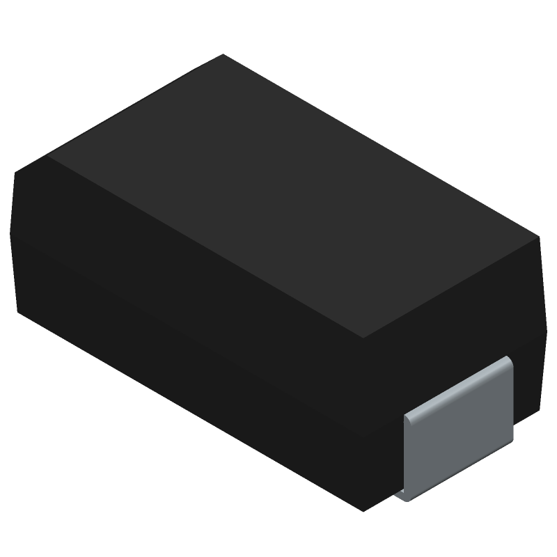STMicroelectronics STTH1R02A (Diodes Moulded) 3D model isometric projection.
