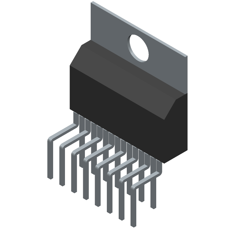 STMicroelectronics TDA7294V (Transistor Outline, Vertical) 3D model isometric projection.