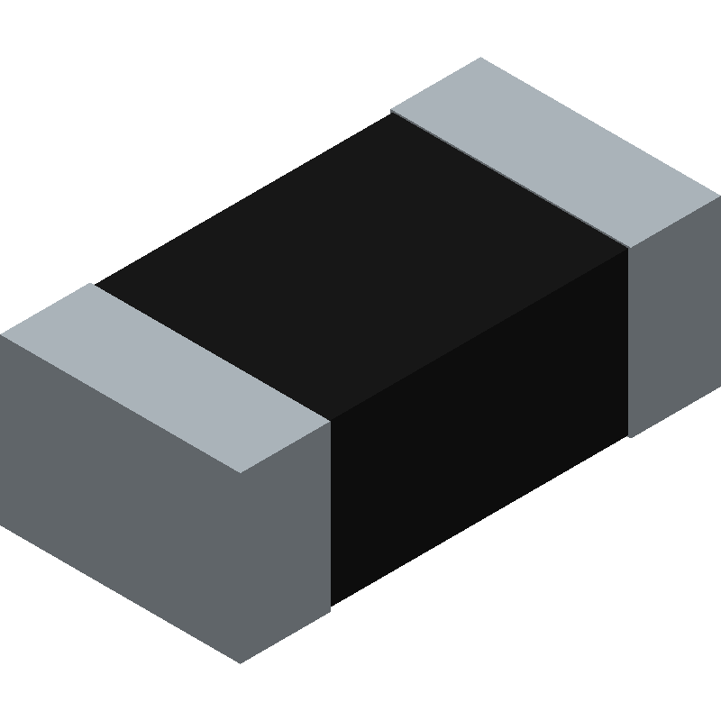 TE Connectivity CRG0603F1K0 (Resistor Chip) 3D model isometric projection.
