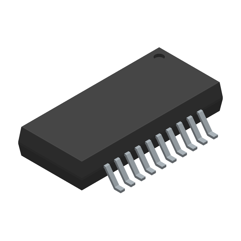 FTDI Chip FT231XS-R (Small Outline Packages) 3D model isometric projection.