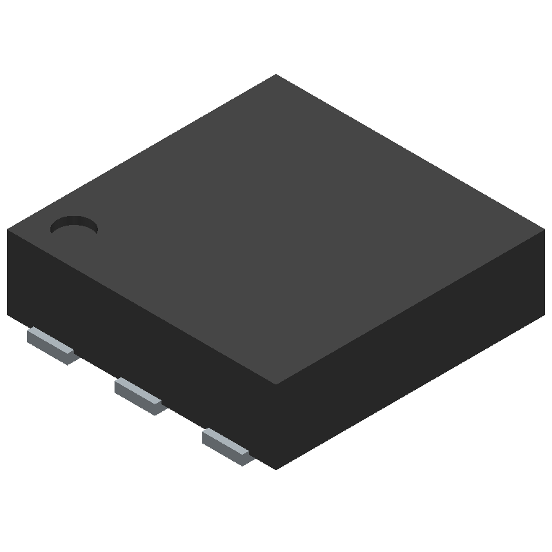 Analog Devices ADP1607ACPZN-R7 (Small Outline No-lead) 3D model isometric projection.