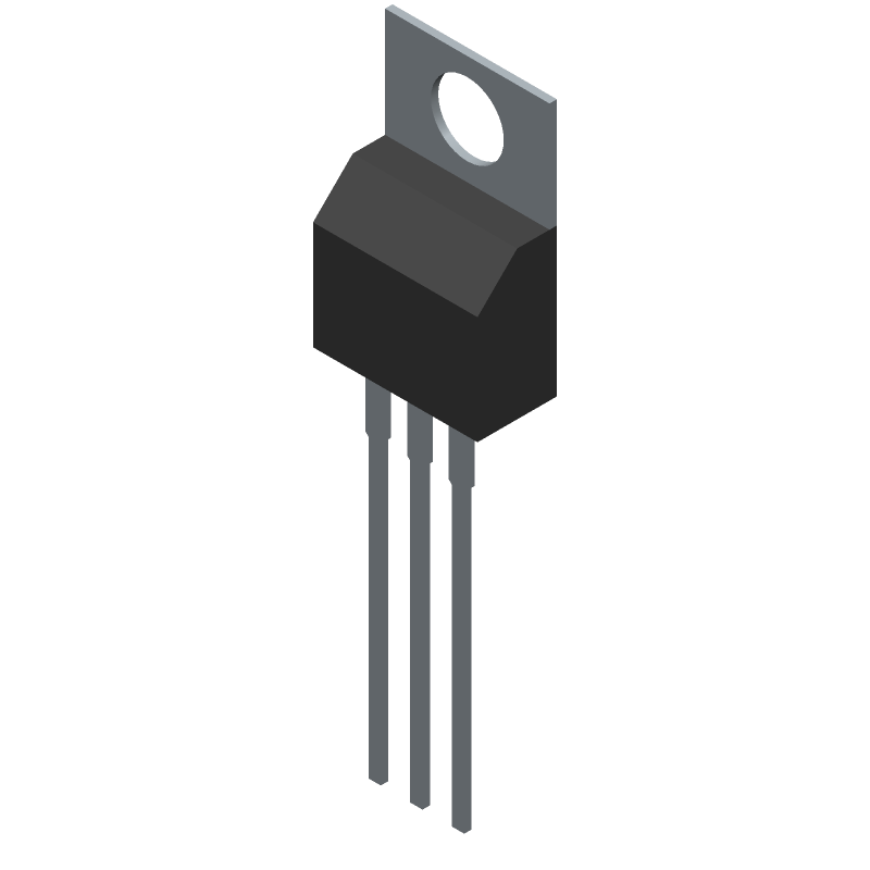 Taiwan Semiconductor TS7805CZ C0 (Transistor Outline, Vertical) 3D model isometric projection.