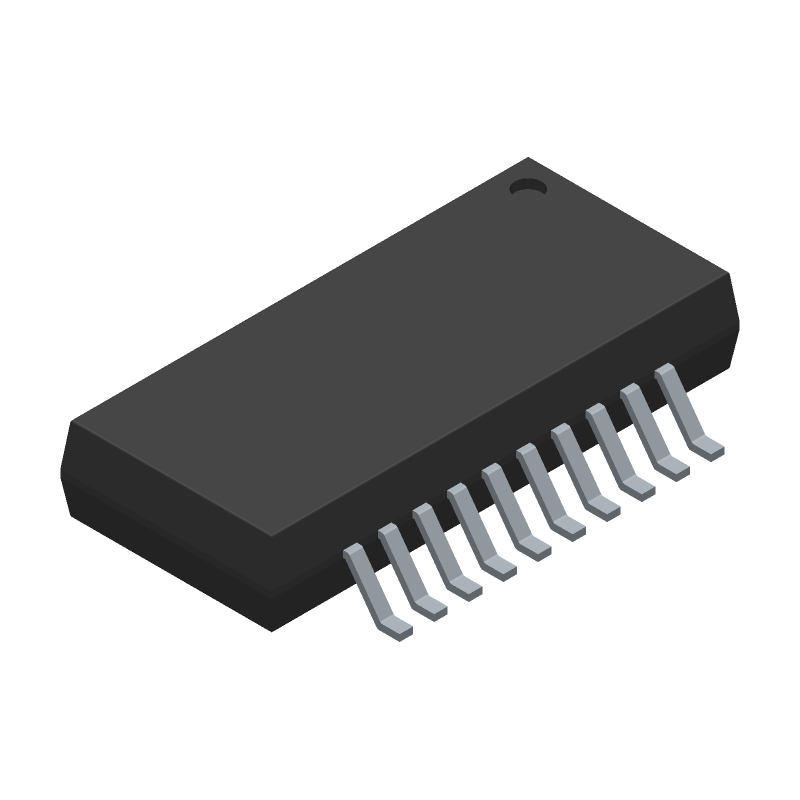 Analog Devices ADUM7640CRQZ (Small Outline Packages) 3D model isometric projection.