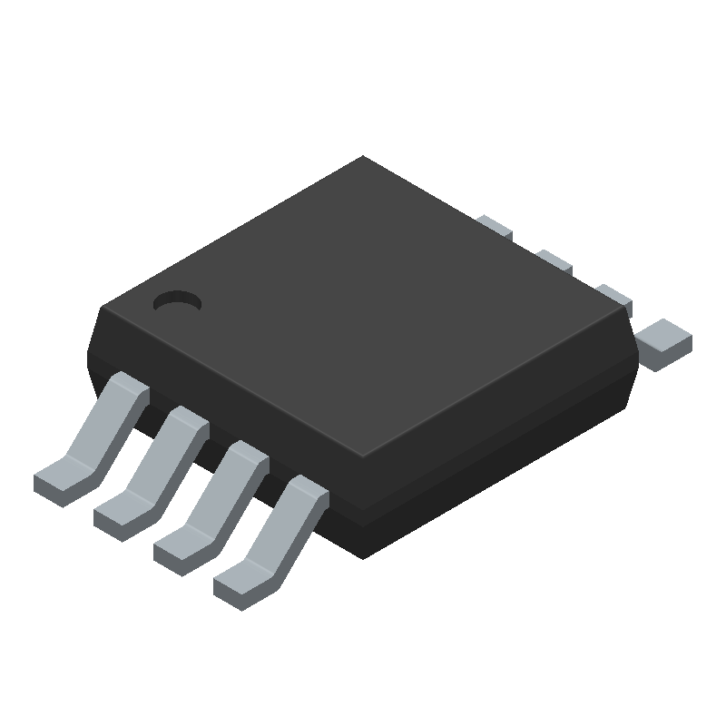 Texas Instruments UCC37321DGN (Small Outline Packages) 3D model isometric projection.