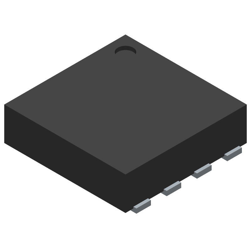 STMicroelectronics TSV912IQ2T (Small Outline No-lead) 3D model isometric projection.