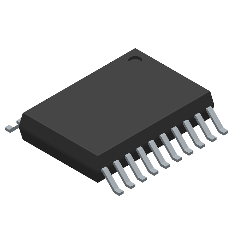 Renesas Electronics R5F10269ASP#V0 (Small Outline Packages) 3D model isometric projection.