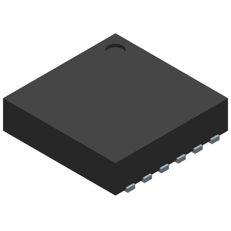 Diodes Inc. PAM2306AYPKE (Small Outline No-lead) 3D model isometric projection.