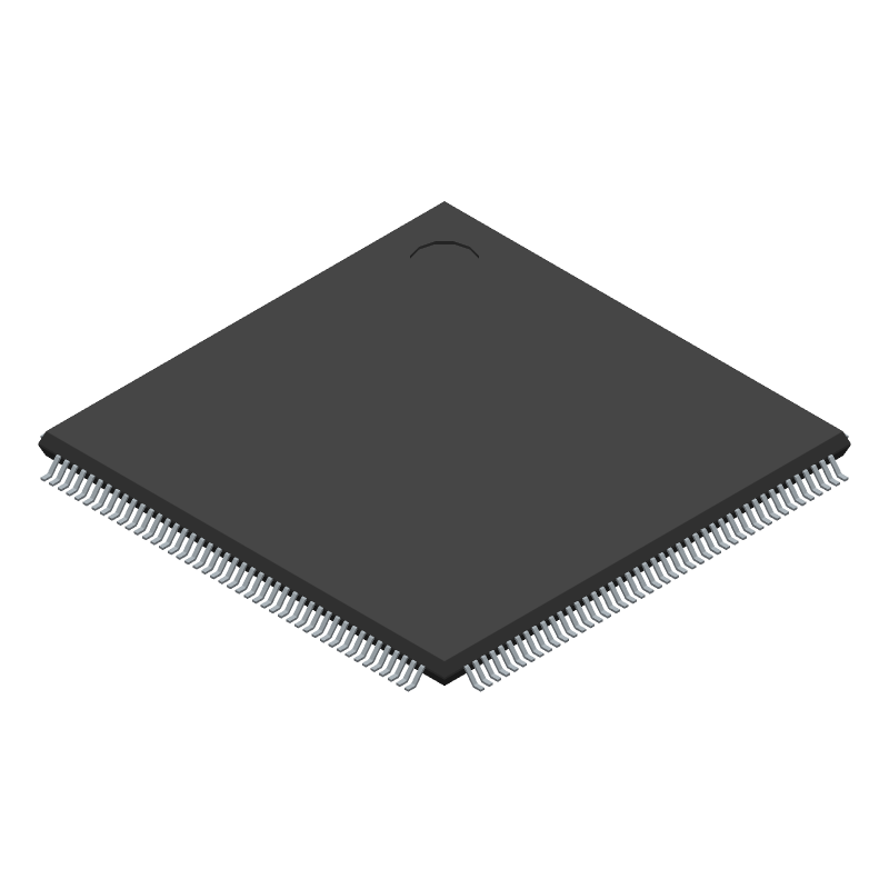 Texas Instruments TMS320F28377SPTPQ (Quad Flat Packages) 3D model isometric projection.