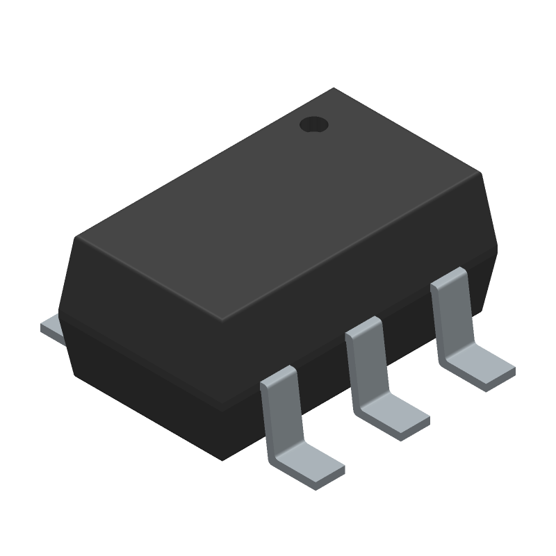 Peregrine Semiconductor PE42421SCAA-Z (SOT23 (6-Pin)) 3D model isometric projection.
