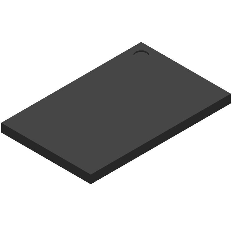 Winbond W9751G6KB-25 (BGA) 3D model isometric projection.