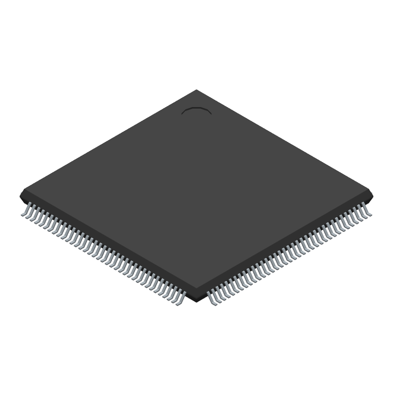 STMicroelectronics STM32F101ZET6 (Quad Flat Packages) 3D model isometric projection.
