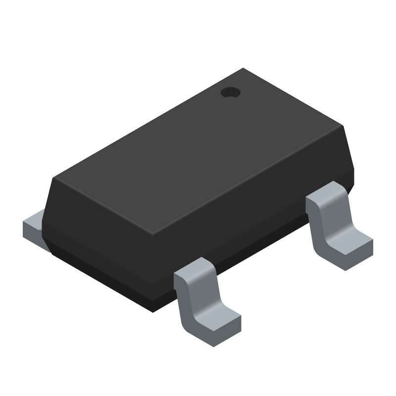 SII Semiconductor S-8211CAA-M5T1U (SOT23 (5-Pin)) 3D model isometric projection.