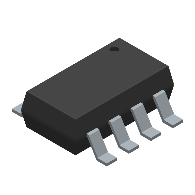 Monolithic Power Systems (MPS) MP2159GJ-Z (SOT23 (8-Pin)) 3D model isometric projection.