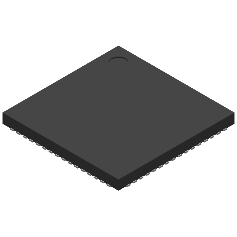 Cypress Semiconductor S6E1C32D0AGN20000 (Quad Flat No-Lead) 3D model isometric projection.