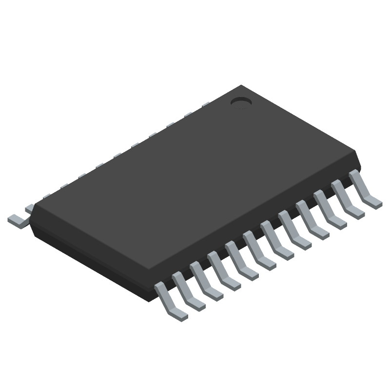Texas Instruments TPS92518HV-Q1 (Small Outline Packages) 3D model isometric projection.