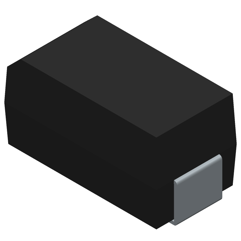 STMicroelectronics STTH102A (Diodes Moulded) 3D model isometric projection.