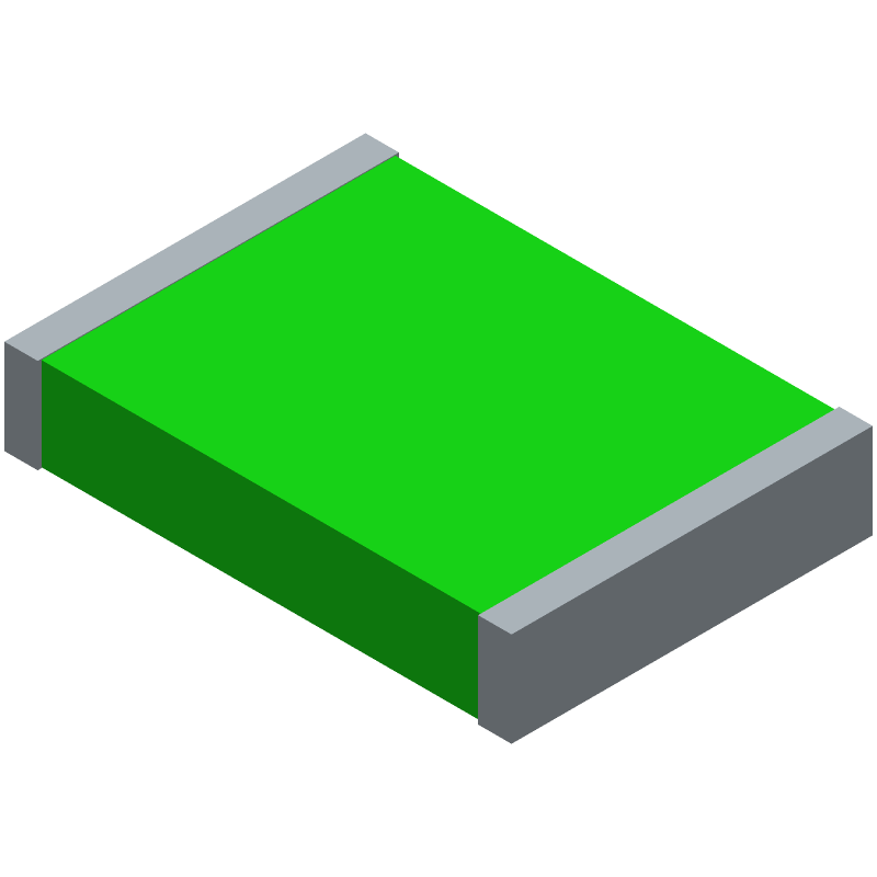 Bourns MF-MSMF050-2 (Fuses Chip) 3D model isometric projection.