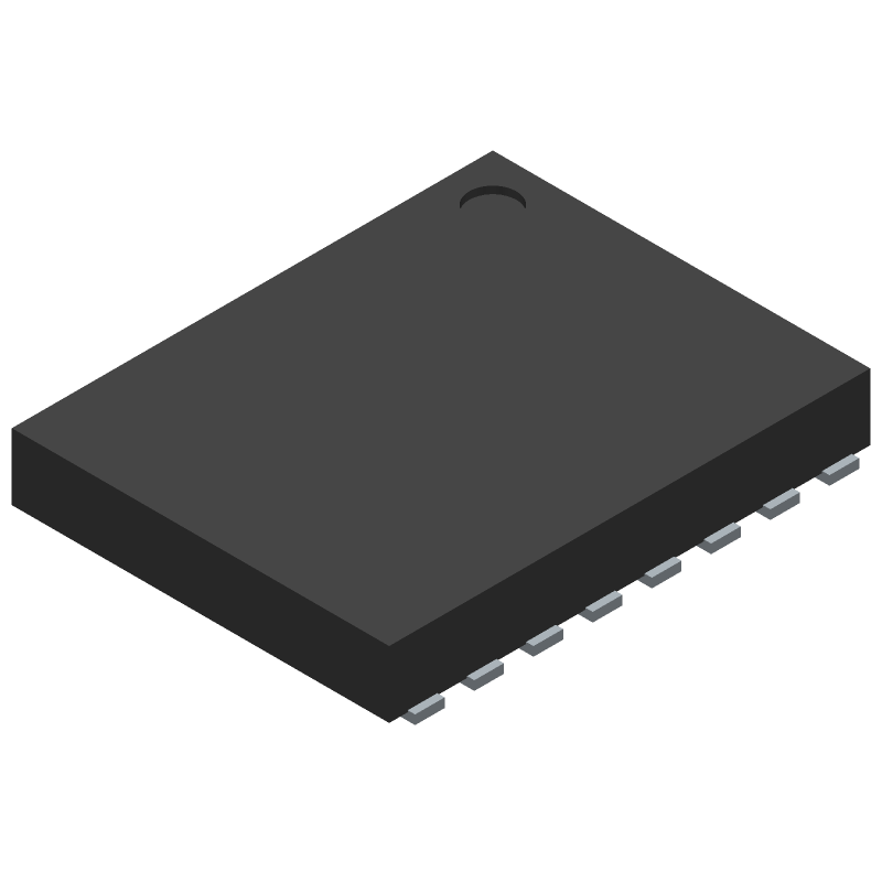 Nexperia LPC812M101JTB16X (Small Outline No-lead) 3D model isometric projection.