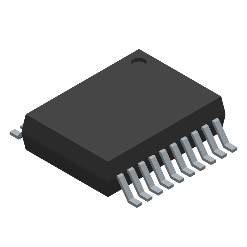 Analog Devices ADN4650BRSZ (Small Outline Packages) 3D model isometric projection.