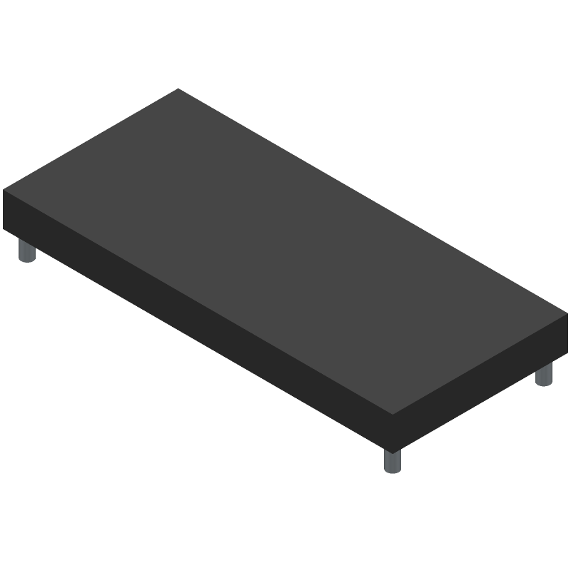 Newhaven Display NHD-0216XZ-FSW-GBW (Other) 3D model isometric projection.