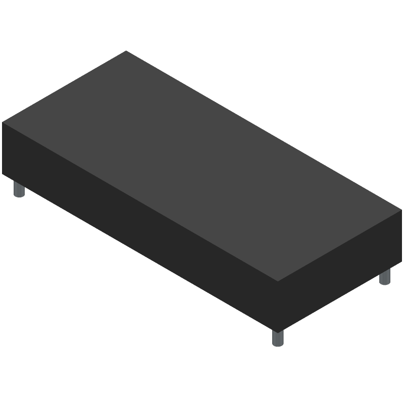 Newhaven Display NHD-0216K3Z-NSW-BBW-V3 (Other) 3D model isometric projection.