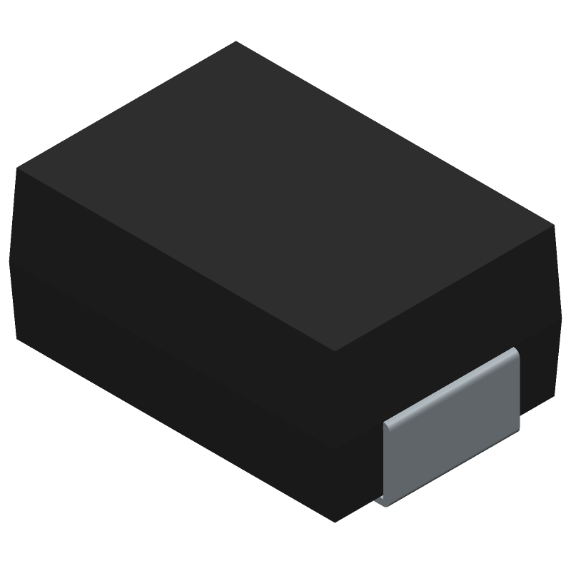 LITTELFUSE P6SMB12CAT3G (Diodes Moulded Non Polarised) 3D model isometric projection.