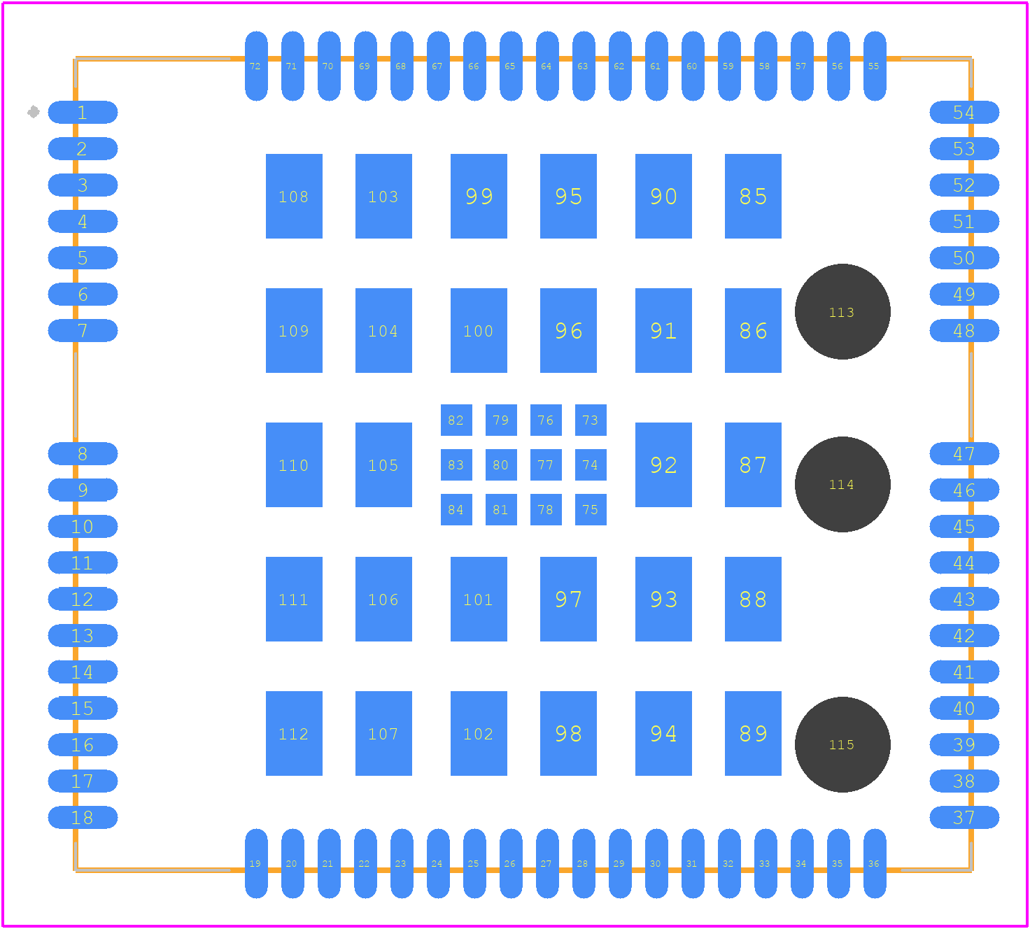 PCB Footprint for UC20EQAR0XA0XM1024