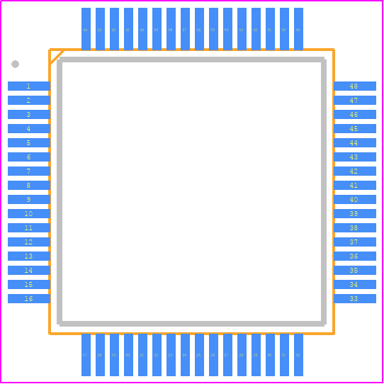 PCB Footprint for STM32L152RET6